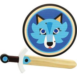 Vilac dřevěný štít a meč Vlk