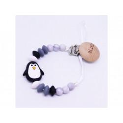 Mimijo klip na dudlík - Černý tučňák