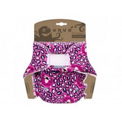 Unuo kalhotková plena jednovelikostní -  Spící hlava pantera na růžové