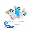 Unuo kalhotková plena jednovelikostní -  Spící hlava pantera na tm. modré