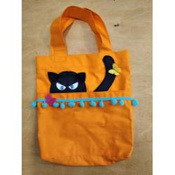 NetBag taška pro děti - černá kočka
