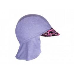 Unuo funkční čepice s kšiltem a plachetkou UV 50+ - Velryby holka XS