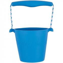 Scrunch silikonový kbelíček - modrý