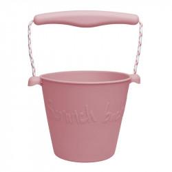 Scrunch silikonový kbelíček - růžový