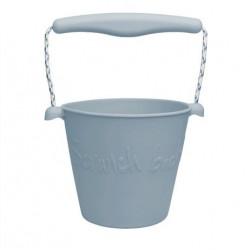 Scrunch silikonový kbelíček - světle šedý