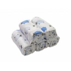 Polášek dětské látkové pleny tisk - modré ovečky
