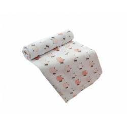 Polášek dětské látkové pleny tisk - růžové ovečky