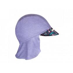 Unuo funkční čepice s kšiltem a plachetkou UV 50+ - Mořský svět, šedá S