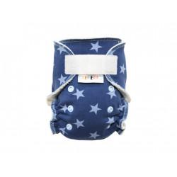 Breberky novorozenecká kalhotková plenka SZ - Hvězdičky modré, sv.modré patentky