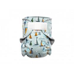 Breberky novorozenecká kalhotková plenka SZ - Racek a plachetnice na šedé