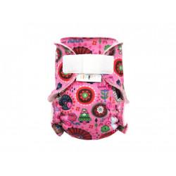 Breberky novorozenecká kalhotková plenka SZ - Rozkvetlé Mexiko, sv. růžové patentky