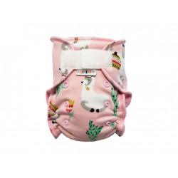 Breberky novorozenecká kalhotková plenka PAT - Lama sv. růžová, sv. růžové patentky
