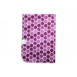 Breberky přebalovací podložka PUL - Medové plástve fialové, sv. růžový velur