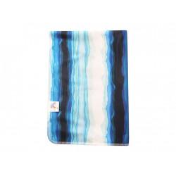 Breberky přebalovací podložka PUL - Modrá laguna, sv. modrý velur