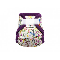 Breberky novorozenecké svrchní kalhotky SZ bez křidélek - Rozkvetlá louka