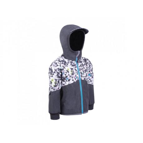 Unuo Softshellová bunda s fleecem Street vel. 98/104 - Žíhaná Antracitová, Metricon kluk