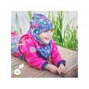 Unuo fleecová čepice vel. L (53 - 58 cm) - Květinky