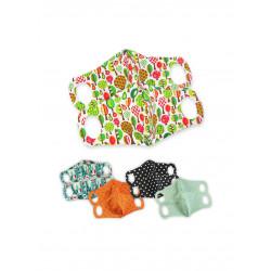 Petit Lulu rouška s drátkem S - Mint bílý puntík 2 ks