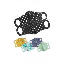 Petit Lulu rouška s drátkem L - Modré ornamenty 2 ks