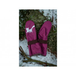 Loktu She dětské softshellové rukavice - malinové