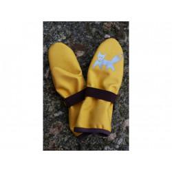 Loktu She dětské softshellové rukavice - žluté