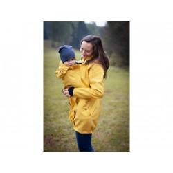 Loktu She Softshellový kabát na nošení děti - žlutý melír vel. 40