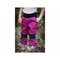 Loktu She Softshellové kalhoty - malinový melír