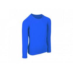 Unuo dětské bambusové triko s dlouhým rukávem - Modrá královská