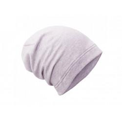 Unuo teplákovinová čepice spadená sv. šedá - S (45 - 48 cm)