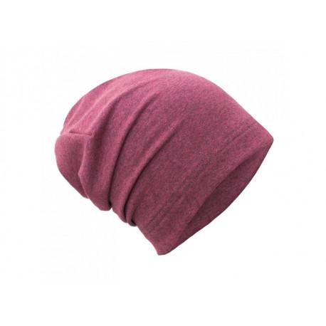 Unuo teplákovinová čepice spadená jahodová - M (49 - 52 cm)