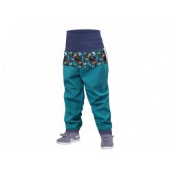 Unuo batolecí softshellové kalhoty bez zateplení vel 74/80 - Smaragdová pejsci