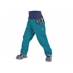 Unuo Softshellové kalhoty bez zateplení vel. 128/134 - Smaragdová pejsci