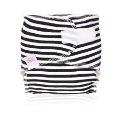 Ella´s House novorozenecká plenka newbie nappy-black stripes