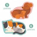 Petit Collage první  puzzle domácí mláďátka