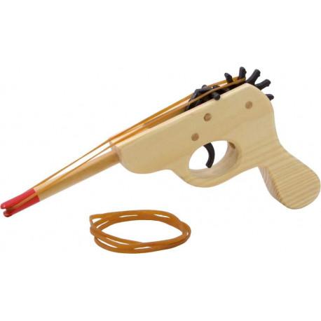 Vilac dřevěná pistol na gumu