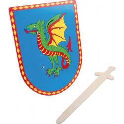Small foot dračí štít s mečem