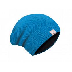 Unuo dětské pletená čepice M (49 - 52 cm) - tyrkysová