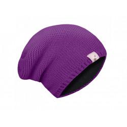Unuo dámská pletená čepice (56 - 58 cm) - ostružinová
