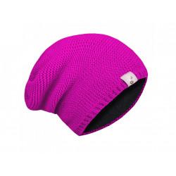 Unuo dámská pletená čepice (56 - 58 cm) - fuchsiová