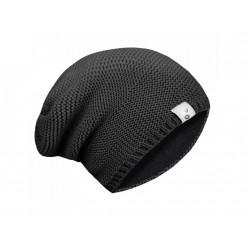 Unuo dětská pletená čepice M (49 - 52 cm) - černá
