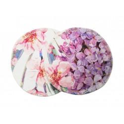 Breberky vložky do podprsenky BIO bavlna - Květinový sen