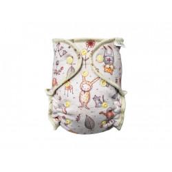 Breberky MINI kalhotková plenka BIO bavlna PAT - Vlk a přátelé