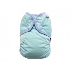 Breberky svrchní kalhotky s křidélky, gumička lem PAT - Světle modré