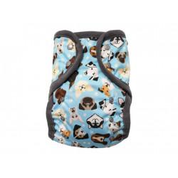 Breberky XL svrchní kalhotky fleecový lem PAT - Veselí pejsci