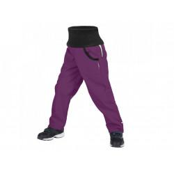 Unuo Softshellové kalhoty s fleecem Street vel. 122/128 - Ostružinová