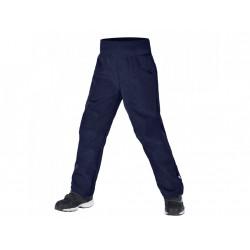 Unuo softshellové kalhoty s fleecem Cool vel. 110/116 - žíhaná tm. modrá
