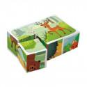 Dino dřevěné kostky - lesní zvířata 6 ks