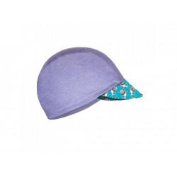 Unuo funkční čepice s kšiltem UV 50+ žíhaná holubičí šedá, Žraloci L