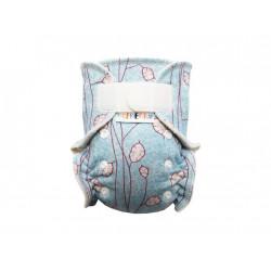 Breberky MINI kalhotková plenka BIO bavlna SZ - Stříbrné lístečky na modré