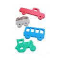 Vylen pěnová zvířátka do vany - Traktor, autobus, náklaďák, vozík